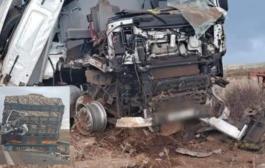 صباح يوم الإتنين  21/06/2021 وقعت  حادثة سير خطيرة اصدام شاحنة باخرى بطريق الرابطة مابين الرباط وتمسنا