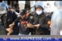 لحضة إعتقال أحد المتضاهرين من طرف رجال الأمن بالرباط