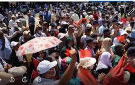 قدماء المحاربون المغاربة المحررين للصحراء في وقفة نضالية للدفاع عن حقوقهم في العيش
