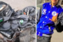 حادثة سير خطيرة  راح ضحيتها صاحب دراجة نارية بسلا  الجديدة