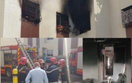 عين عتيق حريق مهول وفات طفلة بعين المكان