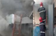 حريق مهول بدكان دروكري بحي الفتح 2 بالمحمدية