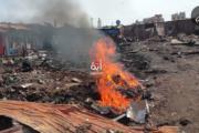 حريق مهول بسوق عشوائي بحي كريمة يخلف خسائر مادية